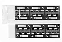 Article E-43000 consists of 9 sheet with 6 labels, packaged in a zip-top bag