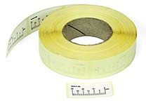Roll with self-adhesive labels  (200 pcs.) with 30 mm scale