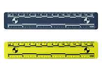 Blue and yellow ruler, 15 cm
