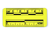 Yellow magnetic ruler, 5 cm
