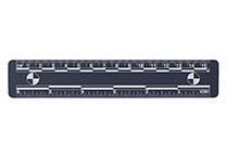 Blue magnetic ruler, 15 cm